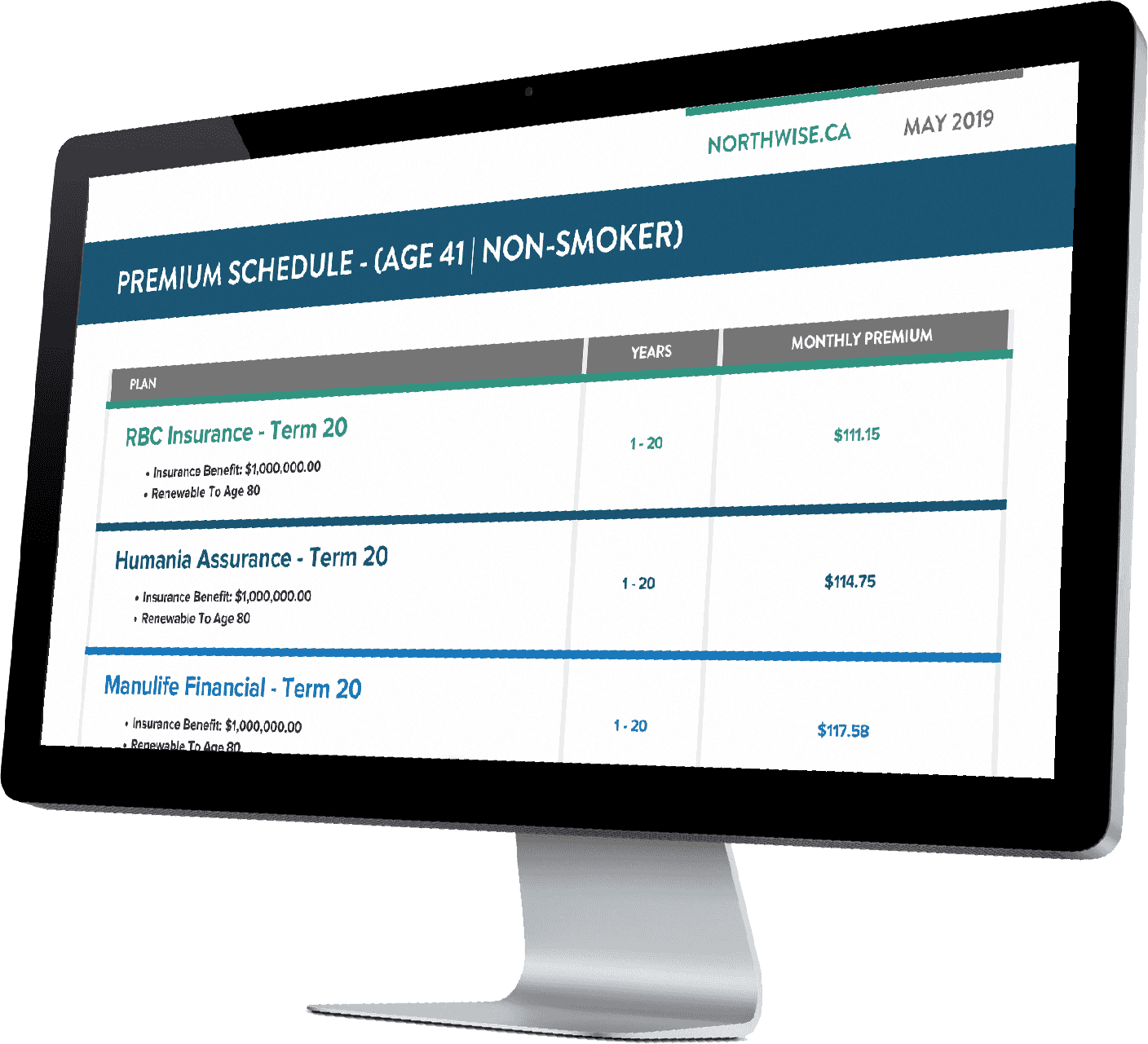 Northwise calculator for life insurance